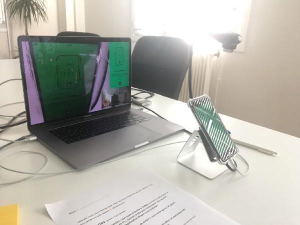 User-test-setup